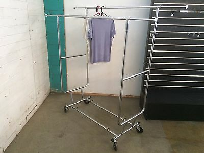 "Double Collapsible Clothes Rack On Wheels Brand New In Box ""OUT OF STOCK"""