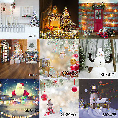 10X10FT Christmas Snowman background Photography studio Photo Prop backdrop