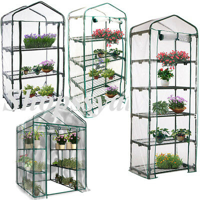 Greenhouse Garden 2x3 Tier Mini Frame PVC Cover Roll Up Front Grow Plant Outdoor