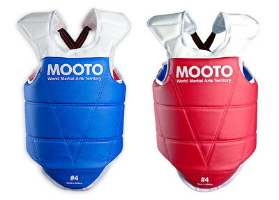 MOOTO Taekwondo Reversible Chest Guard, Sparring Protection