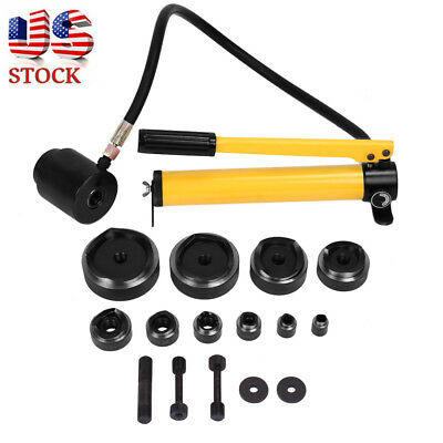 15 Ton Driver Hydraulic Tool Kit 10 Dies 16-101mm Knockout Punch Tool Kit Set US