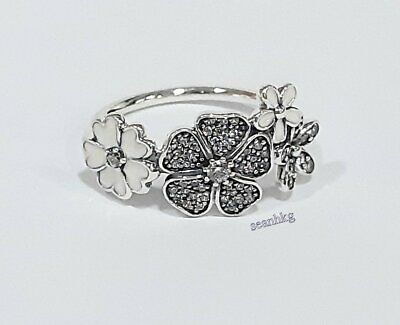 39011872b NEW AUTHENTIC PANDORA Shimmering Bouquet Ring #190984CZ W/ Pandora ...