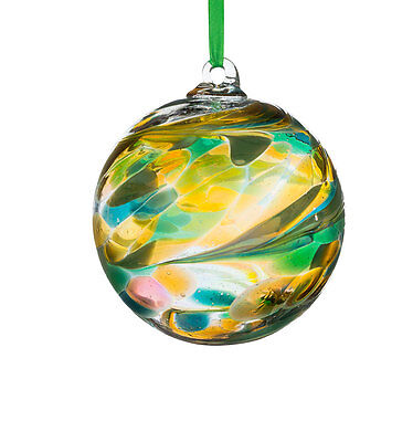 Glass August Birthstone 10cm Friendship Ball With Gift box By Sienna Glass