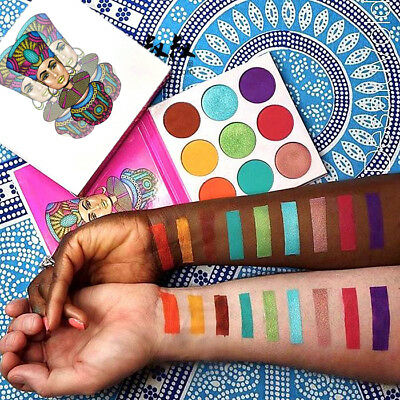 The Zulu Eye Shadow Palette 6 matte shades+3 exotic metallic shimmers 9 Colors