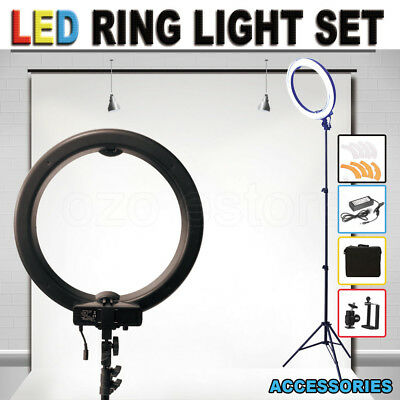 "ES240 19"" 5500K Dimmable Diva LED Ring Light with Diffuser Stand Make Up Studio"
