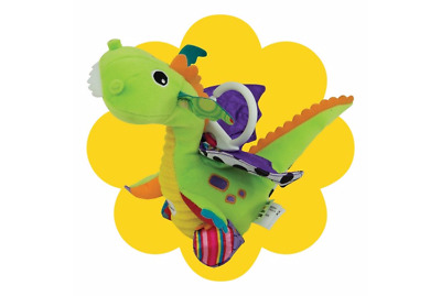 Lamaze Flip Flap Dragon Baby Soft Toy , Clip on Cot /Car Seat /Buggy /High chair