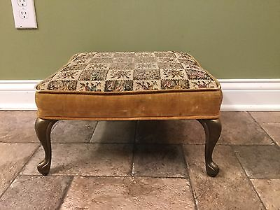 Antique Floral Design Foot Stool