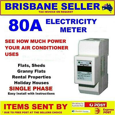 Power Meter Electric Din 240V Meter 80A Granny Flats Caravan Park Rental