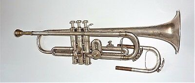 vintage Silver plated trumpet in case