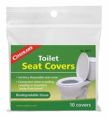Coghlans Toilet Seat Covers - White, 10 Pack