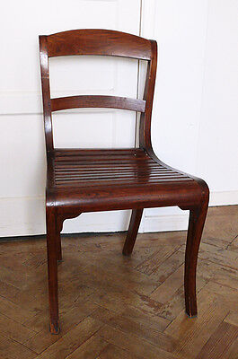 Antique/Vintage Set of 5 Solid Wood Chairs