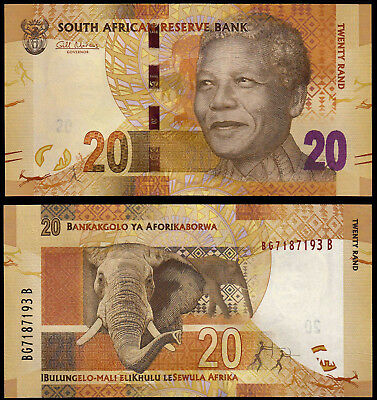 South Africa 20 Rand (P134) N. D. (2012) Unc