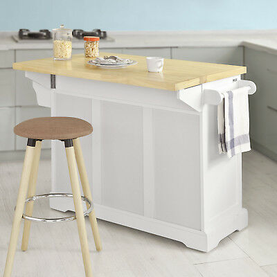 SoBuy Extendable Kitchen Trolley Cabinet,Kitchen Island,Dining Table,FKW41-WN,UK