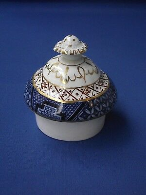 Booths England Real Old Willow A8025 Blue and White Pottery Lid Fits Coffee Pot
