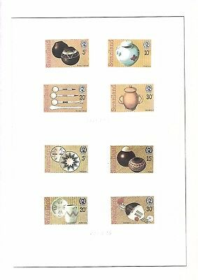 swaziland 8 timbres neufs avec gomme