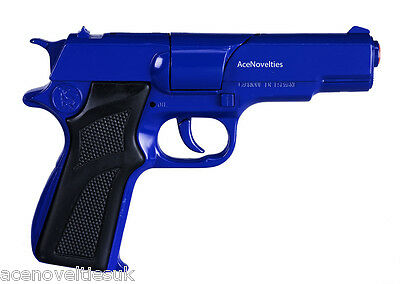 Gonher Police 8 Ring Shot Cap Gun Diecast 16.5cm - Made in Spain -BLUE