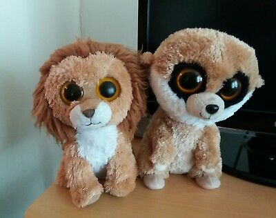 ty meerkat and lion soft toys