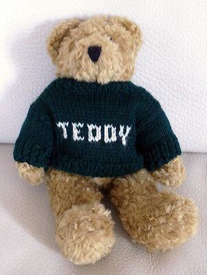Teddy Bear with Green Knit Jumper