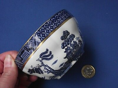 Booths Real Old Willow A8025 Blue White Pottery Large Open Sugar Bowl Slop Rice
