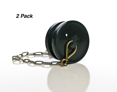 2 x Fire Hydrant Plastic Blanking Cap With Chain - BIC Thread