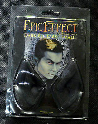 New LARP black elven ears from epic effect size small ( refbox#44 )