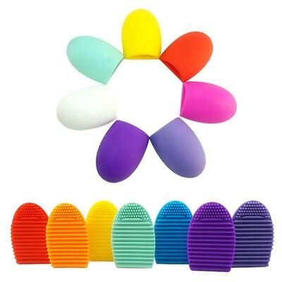 MINI Silicone Makeup Brush Cleaner Cleaning Cosmetic Scrubber Board Mat Pad Tool