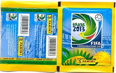 PANINI CONFEDERATIONS CUP BRASIL 2013 ~ BUSTINA Packet Tüten ~ figurine stickers