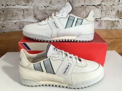VINTAGE 1980s Patrick Club Astro Cricket Shoes Boots Trainers Uk 7 Eu 41 White