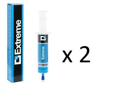 Car air conditioner sealant A/C STOP LEAK EXTREME 2 X 30ml Adapter R134a Errecom