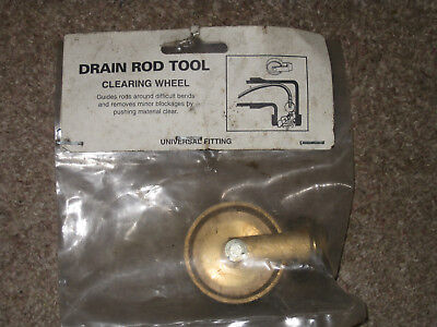 Drain Rod Tool Replacment Drain Rod Accessory Clearing Wheel New Unused Old Stoc