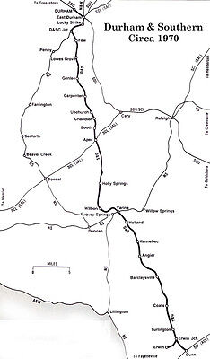 Durham & Southern Railway - Very Large Maps on CD
