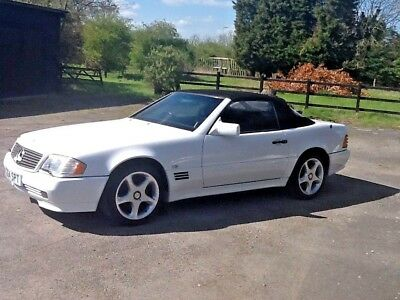 1992 Mercedes -Benz 300SL 24 Auto Convertible White with Black Leather