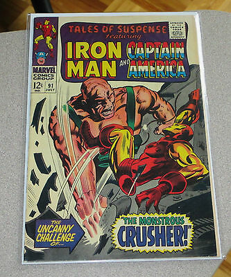 Tales Of Suspense #91 Iron Man/captain America Marvel Red Skull App. Stan Lee