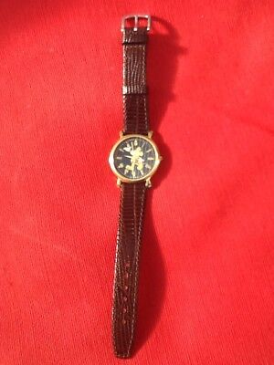 Mickey Mouse Black Faced Disney Store Watch - Classic Rare - Ds92