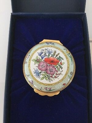 Halcyon Days Enamels Floral Box ( Retired)