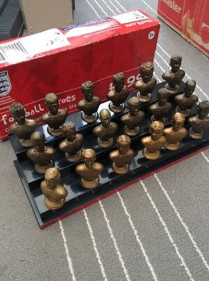 Sainsburys England World Cup 2006 Corinthian Busts NOT complete + Display Stand