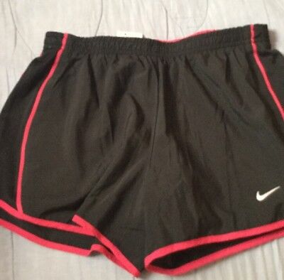Women's Nike Dri-Fit Running Athletic Shorts Size XS/S Black/Pink