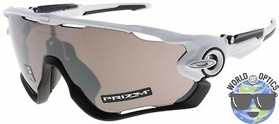 Oakley Jawbreaker Sunglasses OO9290-2931 Polished White | Prizm Black Lens | NIB