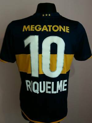 ARGENTINA 2007 - 2008 Nike CABJ Boca Juniors Home Football Shirt Jersey RIQUELME