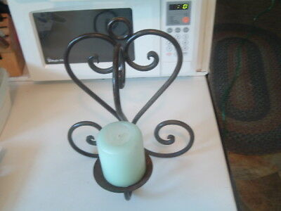 Vintage Black Cast Iron Wall Candle Holder or Plant Stand Holder Beautiful