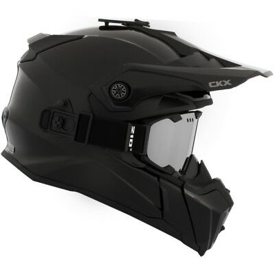 Ckx Titan Matte Black Off Road Modular Snowmobile Winter Helmet 210 Goggles 2018