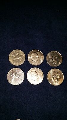 Set of 6 British Commemorative Coins