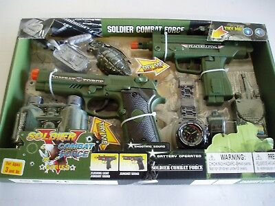 Military Gun Toy Set - Shooting Sound when Trigger Pulled