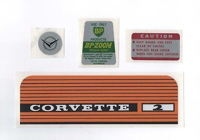 Victa 1960s Corvette 2 Vintage Rotary Mower Repro Decals