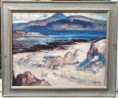 "1960s impressionist/Colourist  oil painting "" Scottish ?? signed initials w.n.g"