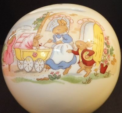 ROYAL DOULTON BUNNYKINS BANK OR MONEY BALL NEW IN BOX Baby Carriage