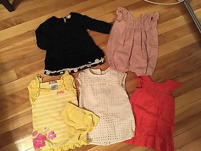 GAP, JUICY COUTURE and ZARA Lot of 5 Dresses 6-18 months