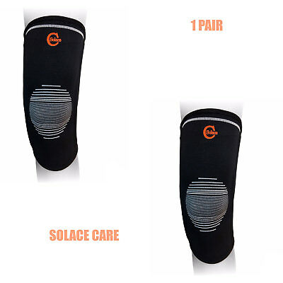 Solace Care 1 Pair Knee Brace Sleeves Support Running Crossfit Sports Basketball
