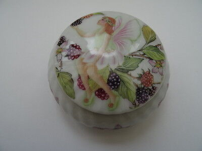 Porcelain Trinket Bowl with Lid-Secret Garden. 2007.By Regency.Fairy/Raspberries