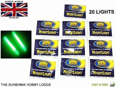 Fishing Glow Sticks Coarse Chemical Lights Night Floats Starlights Lineaeffe 20